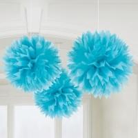 Fluffy Blau, 3er Pack
