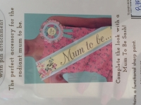 """Mum to be"" Sash"