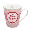 "Happy Mug with handle ""Super Mama"""