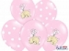 Balloons 30cm, Elephant and white Dots, Pastel Pink Mix (10pc.)