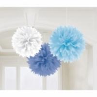 Fluffy Blau gemischt, 3er Pack