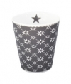 "Happy Mug ""Diagonal Charcoal"""