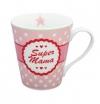 """Happy Mug with handle """"Super Mama"""""""